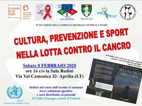 'Alla ricerca della vita' presentato in un evento durante la Giornata Mondiale per il Cancro