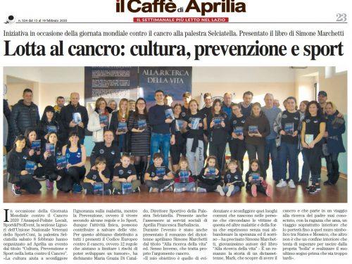 """""""Alla ricerca della vita"""" su Il Caffè di Aprilia, il Settimanale più letto nel Lazio"""