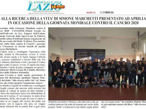 """""""Alla ricerca della vita"""" su Il Giornale del Lazio"""