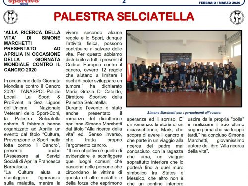 'Alla ricerca della vita' su il Corriere Sportivo di Aprilia