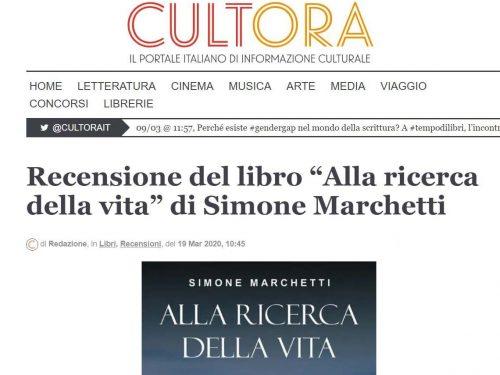 RECENSIONE DI 'ALLA RICERCA DELLA VITA' SUL MAGAZINE ONLINE 'CULTORA'