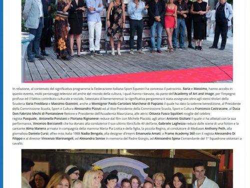 Intervista de' La Critica su ALLA RICERCA DELLA VITA in occasione dell'inaugurazione dell'Antica Scuderia a Roma