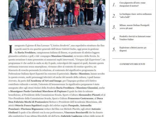 Intervista de' LA NOTTE su ALLA RICERCA DELLA VITA in occasione dell'inaugurazione dell'Antica Scuderia a Roma