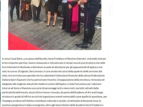 Intervista di 'Notizie Nazionali' su ALLA RICERCA DELLA VITA in occasione dell'inaugurazione dell'Antica Scuderia a Roma