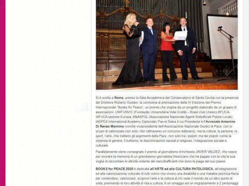 """""""ALLA RICERCA DELLA VITA"""" NELLA RASSEGNA STAMPA DEI BOOKS FOR PEACE"""