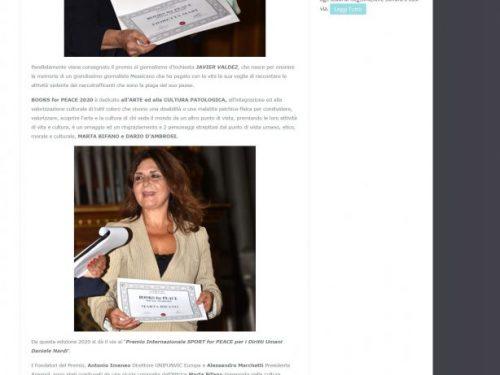 """""""Alla ricerca della vita"""" sui mass media nazionali insieme al Books for Peace 2020 – 14/9/20"""
