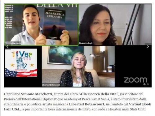 """Houston chiama Aprilia: """"Alla ricerca della vita"""" al Virtual Book Fair USA – rassegna stampa media online"""