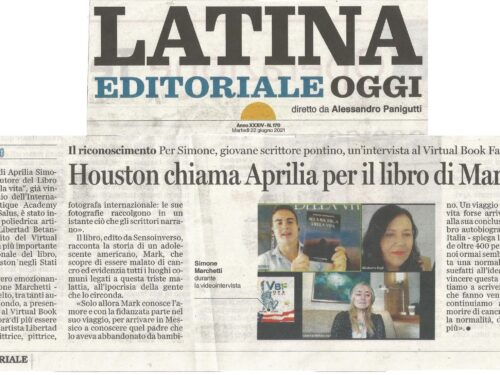 """Houston chiama Aprilia: """"Alla ricerca della vita"""" al Virtual Book Fair USA – rassegna stampa giornali"""