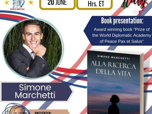 Intervista internazionale per Simone Marchetti con la famosa Libertad Betancourt su Virtual Books Fair U.S.A.